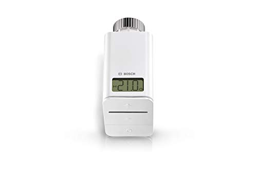Bosch Smart Home Heizkörperthermostat, Thermostat Heizung mit App-Funktion, kompatibel mit Amazon Alexa, Apple HomeKit, Google Home (exklusiv für Deutschland)