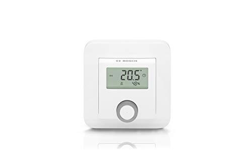 Bosch Smart Home Raumthermostat (2X AAA Batterie, für Heizkörperthermostate, inklusive Feuchtigkeitsanzeige - kompatibel mit Google Assistant und Alexa)