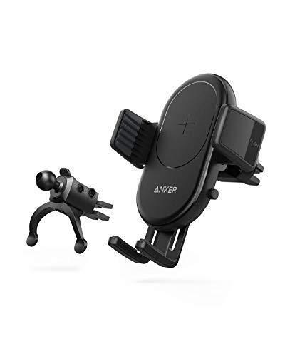 Anker PowerWave Wireless Car Charger drahtloses Auto Ladegerät Blitzschnelles Ladepad für Autos, mit Lüftungshalterung, Qi-Zertifiziert,7.5W für iPhone,10W für Samsung, 5W für Qi-fähigen Handys