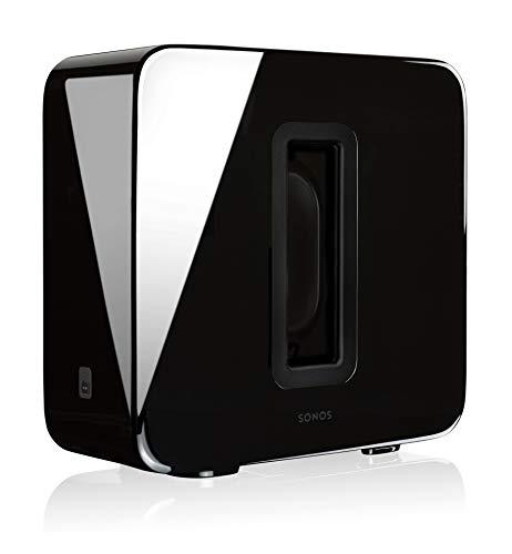 Sonos Sub, schwarz - Leistungsstarker WLAN Subwoofer für dynamische & tiefe Bässe für alle Sonos Speaker - Eleganter Multiroom Subwoofer für erstklassigen Sound