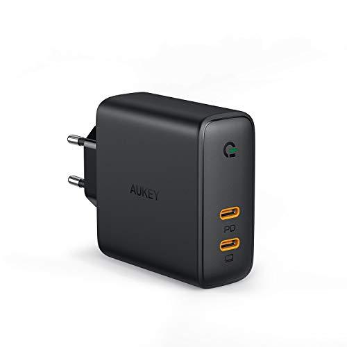 AUKEY USB C Ladegerät 60W Wandladegerät, Power Delivery Ladegerät mit Dynamic Detect & GaN Tech, USB-C Netzteil für 13