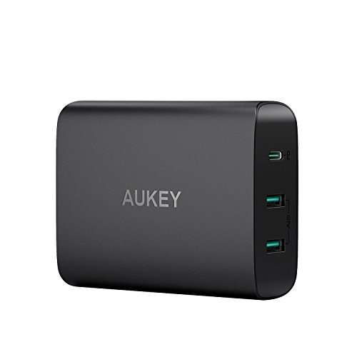 AUKEY USB C Ladegerät mit 60W Power Delivery 3.0 & 2 Ports USB Netzteil für MacBook/Pro, Dell XPS,Samsung, Google Pixel, iPhone XS / XS Max / XR usw.