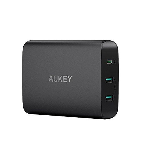 AUKEY USB C Ladegerät 60W Wandladegerät, USB C Power Delivery Ladegerät & 5V 2,4A USB Netzteil für MacBook, Dell XPS,Samsung, Google Pixel, iPhone XS / XS Max / XR usw.