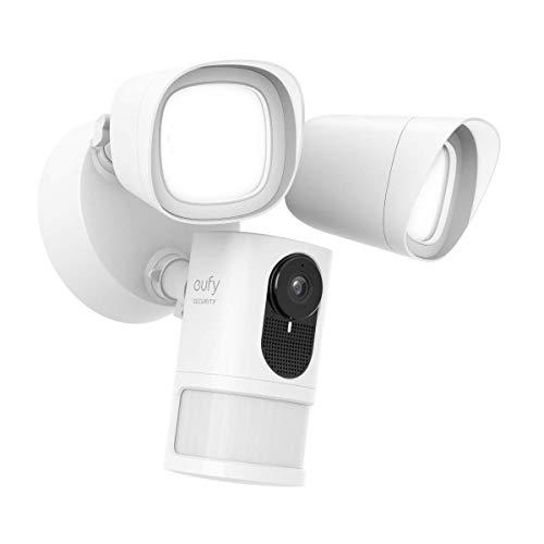 eufy Security Sicherheitskamera mit Scheinwerfer, 1080p Ãœberwachungskamera, ohne Gebühren, 2500 Lumen Helligkeit, Wetterfest & wasserdicht (Verkabelung & wasserdichter Kabelkasten notwendig)