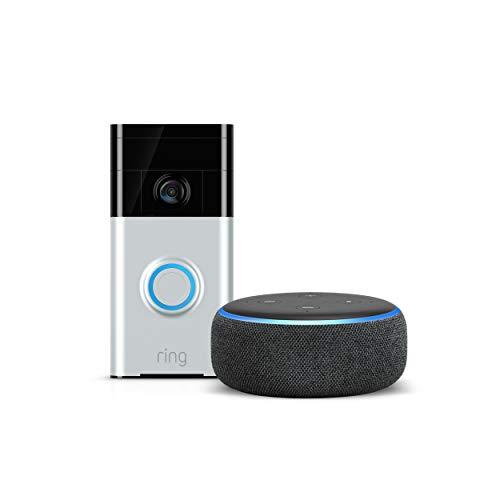 Ring Video Doorbell plus Echo Dot Anthrazit 3rd Gen (keine zusätzlichen kosten)
