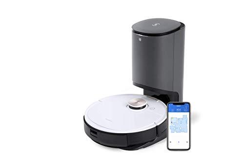ECOVACS DEEBOT OZMO T8+, Staubsauger-Roboter mit Wischfunktion & automatischer Absaugstation, intelligenter Navigation, Google Home, Alexa- & App-Steuerung