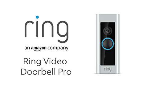 Ring Video Doorbell Pro mit Festverdrahtung von Amazon   Einschließlich Chime (1. Gen.), 1080p HD-Video, Gegensprechfunktion, Bewegungserfassung, WLAN   Mit 30-tägigem Testzeitraum für Ring Protect
