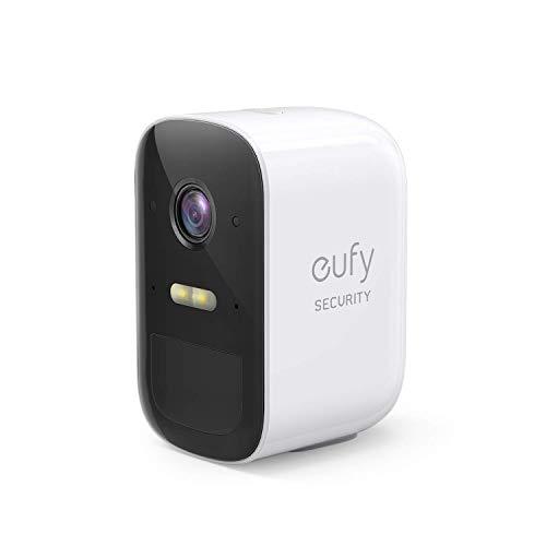 eufy Security eufyCam 2C, zusätzliche kabellose Sicherheitskamera, für HomeBase 2, 180 Tage Akkulaufzeit, HD Übertragung mit 1080p, ohne monatliche Gebühren
