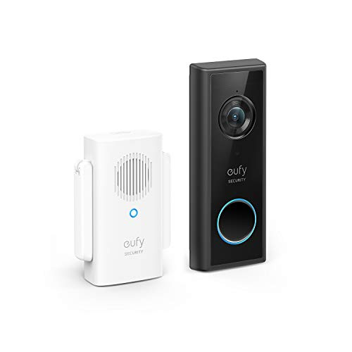eufy Security Sicherheitskamera mit Türklingel und Türglocke, 1080p, 120 Tage Akkuleistung, Kinderleichte Installation, Gebührenfreie Nutzung, Benötigt Micro SD Speicherkarte (Schwarz)