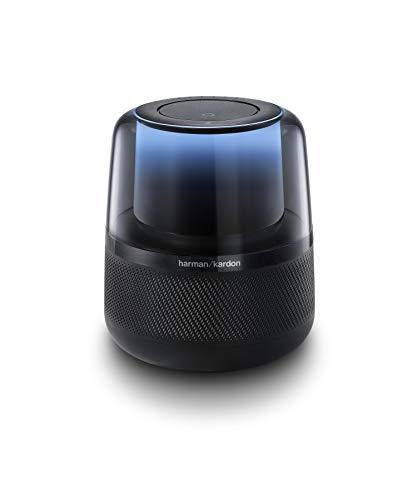 Harman Kardon Allure - Sprachgesteuerter Bluetooth-Lautsprecher mit Alexa-Integration - Musikbox mit modernen Lichteffekten Schwarz