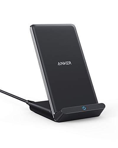 Upgraded Anker PowerWave kabelloses Ladeständer, 7.5W für iPhone 11/ XR/Xs/Max/XS/X / 8 Plus, 10W Schnellladungen für Galaxy S20/ S10 / S9 / S8 / Note 10 (Netzteil Nicht inklusive)