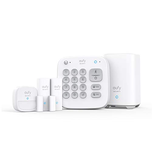 eufy Security 5-teiliges Smart Home Set, Sicherheitssystem mit Bewegungssensor, 2 Diebstahl-Sensoren, Alarmsystem, mit App, kompatibel mit eufyCam, Steuert andere HomeBase Überwachungsgeräte