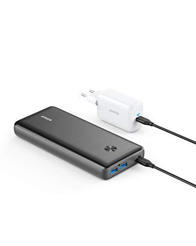 Anker PowerCore III Elite 25600 PD 60W Powerbank mit 65W PD Pod Netzteil, Power Delivery Ladeset für USB-C MacBook Air/Pro/Dell XPS, iPad Pro 2020, iPhone 11 Pro / 11 / XS Max/X / 8, und mehr