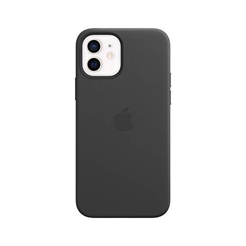 Apple Leder Case mit MagSafe (für iPhone 12   12 Pro) - Schwarz - 6.1 Zoll