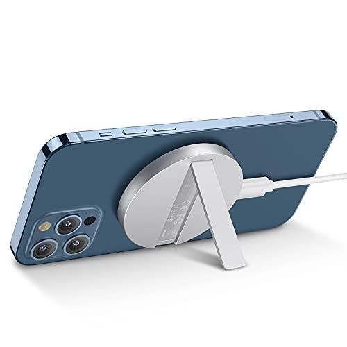 ESR HaloLock Kabelloses Ständer Ladegerät, MagSafe Kompatibles Ladegerät Kompatibel mit iPhone 12/12 mini/12 Pro/12 Pro Max/Magnetischer Hülle, 1,5m Abnehmbares Schnellladekabel, Kein Adapter, Weiß