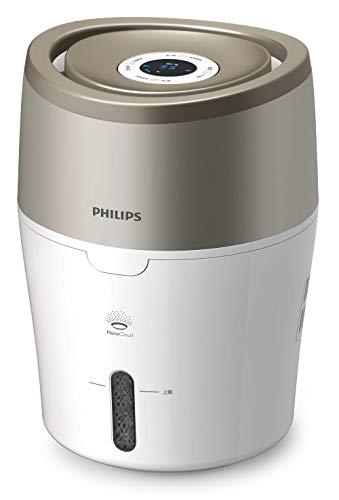 Philips HU4803/01 Luftbefeuchter (bis zu 25m², hygienische Nano-Cloud-Technologie, leiser Nachtmodus, Automodus) weiß und grau metallic
