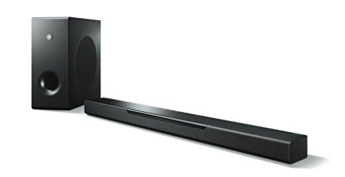 Yamaha MusicCast BAR 400 Sound Bar (Schlanke Soundleiste mit Subwoofer - die perfekte Ergänzung zur Heimkino-Anlage – Kompatibel mit Amazon Alexa Sprachsteuerung) schwarz