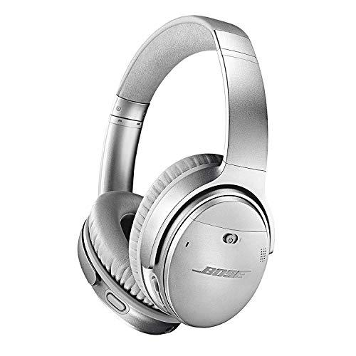 Bose QuietComfort 35 Wireless Headphones II – Kabellose Noise-Cancelling-Kopfhörer mit Bluetooth im Over-Ear-Design mit Integriertem Mikrofon und Alexa-Sprachsteuerung, Silber
