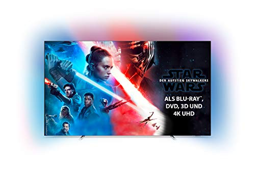 Philips Ambilight 55OLED754/12 139 cm (55 Zoll) OLED Smart TV mit Alexa-Integration (4K UHD, P5 Perfect Picture Engine, Dolby Vision, Dolby Atmos, HDR 10+, Saphi Smart TV) Silber