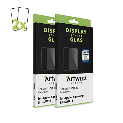 Artwizz SecondDisplay (2er Pack) Schutzglas geeignet für iPhone 12 PRO MAX (6.7') - Displayschutz aus Panzerglas, 9H Schutzgrad, Hüllenfreundlich