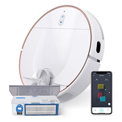 eufy RoboVac L70 Hybrid Saugroboter mit Wischfunktion, iPath Laser-Navigation, 2in1 Staubsauger und Wischmopp, WLAN, Kartendarstellung, 2200Pa Saugkraft, Geräuscharm für Hartböden& mittelhohe Teppiche