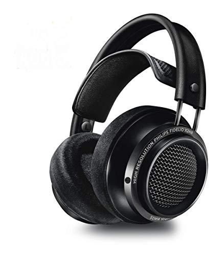 Philips Audio Fidelio X2HR/00 Over-Ear Kopfhörer (High Resolution Audio, Over-Ear, Deluxe-Schaumstoff-Ohrpolster, Kabelclip, 50 mm Neodym-Treiber) schwarz