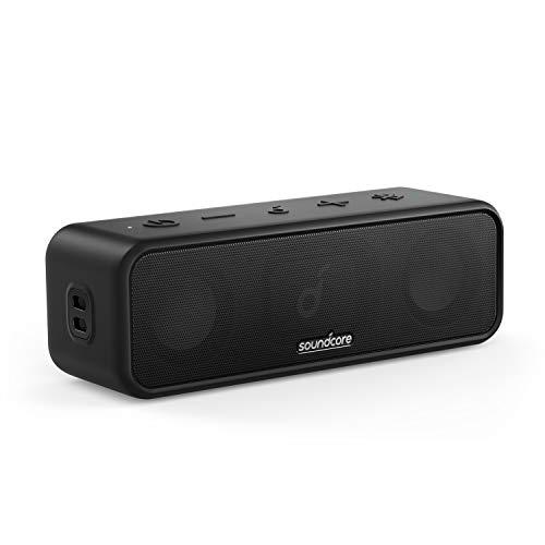 Soundcore by Anker 3 Bluetooth Lautsprecher, Stereo-Sound, Audiotreiber mit Titan-Membran, PartyCast, BassUp, 24 Stunden Akku, IPX7 Wasserschutz, individueller EQ, für Zuhause, Draußen, Garten
