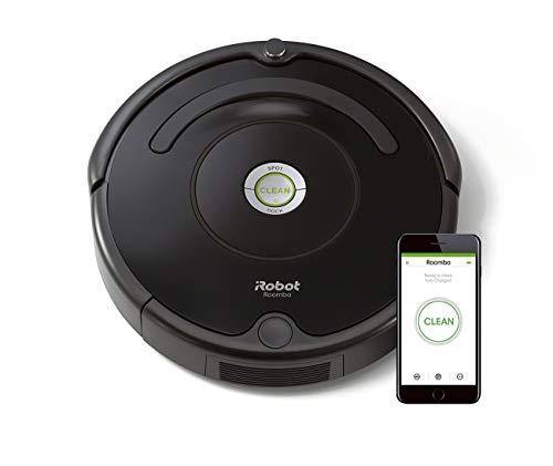 iRobot Roomba 671 WLAN Saugroboter, Dirt Detect Technologie, 3-stufiges Reinigungssystem, Reinigungsprogrammierung per App, Staubsauger Roboter, ideal für Tierhaare, Teppiche und Hartböden, schwarz