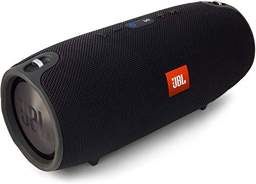 JBL Xtreme Spritzwasserfester Tragbarer Bluetooth Lautsprecher mit 10,000 mAh Akku, Dualem USB-Ladeanschluss und Freisprechfunktion - Schwarz