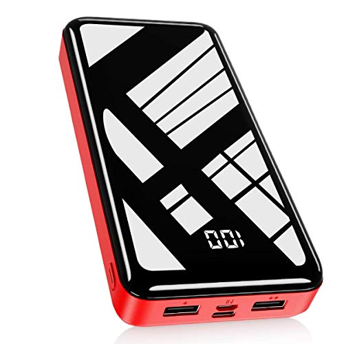 Bextoo Powerbank 30000mAh Große Kapazität Externe Akkus LCD Display Batterie Pack 2 Eingängen 2 Ausgängen Tragbares Ladegerät Handy Akkupack USB C Power Bank für Smartphone, Samsung Huawei, Tablet