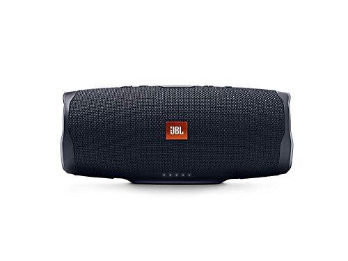 JBL Charge 4 Bluetooth-Lautsprecher in Schwarz – Wasserfeste, portable Boombox mit integrierter Powerbank – Mit nur einer Akku-Ladung bis zu 20 Stunden kabellos Musik streamen