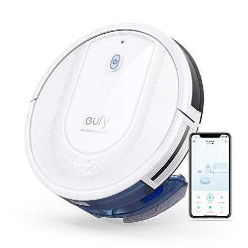 eufy Saugroboter mit Wischfunktion, RoboVac G10 Hybrid, Smart Dynamic Navigation, 2-in-1 Sauger & Wischmopp Roboterstaubsauger, 2000Pa Saugkraft, Selbstaufladend, ideal für Hartböden (Weiß)