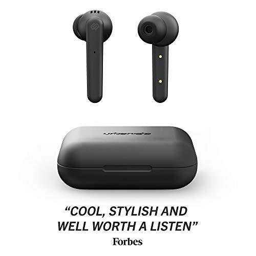 Urbanista Paris True Wireless Kopfhörer. 20H Spielzeit Kabellose Ladetasche, Bluetooth 5.0, Geräuschdämpfende Kopfhörer mit Touch-Steuerung + eingebautem Mikrofon, kompatibel Android und iOS - Schwarz