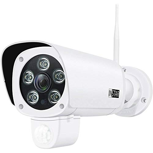 Überwachungskamera IN-9008 Full HD Weiss von INSTAR - WLAN IP Kamera - wetterfeste Außenkamera - Aussen - Alarm - PIR - Bewegungserkennung - Nachtsicht - Weitwinkel - LAN - Wi-Fi - RTSP - ONVIF