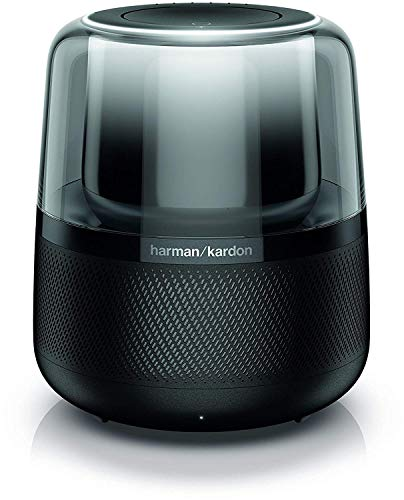 Harman Kardon Allure, Sprachgesteuerter Bluetooth-Lautsprecher mit Alexa-Integration, Schwarze Musikbox mit modernen Lichteffekten