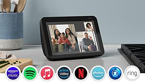 Der neue Echo Show 8 (2. Generation, 2021)   HD-Smart Display mit Alexa und 13-MP-Kamera   Anthrazit