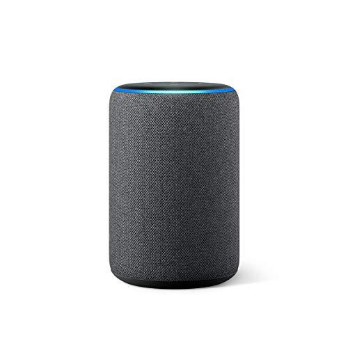 Amazon Echo (3. Gen., vorherige Generation), Anthrazit Stoff, Internationale Version, EU-Netzteil (Dieses Produkt ist nicht nach Deutschland lieferbar)