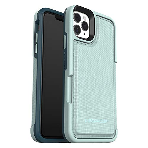 LifeProof Flip verstärkte Schutzhülle mit Steckplatz für 2 Kredit oder Scheckkarten für iPhone 11 Pro Max Grün