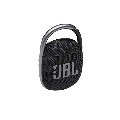JBL CLIP 4 Bluetooth Lautsprecher in Schwarz – Wasserdichte, tragbare Musikbox mit praktischem Karabiner – Bis zu 10 Stunden kabelloses Musik Streaming