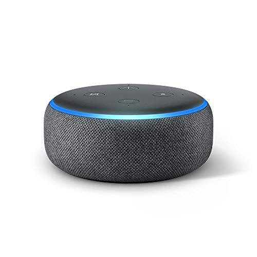 Echo Dot (3. Gen.) Intelligenter Lautsprecher mit Alexa, Anthrazit Stoff