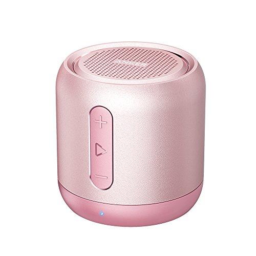 Anker Soundcore mini Bluetooth Lautsprecher, Kompakter Lautsprecher mit 15 Stunden Spielzeit, Fantastischer Sound, 20 Meter Bluetooth Reichweite, FM Radio und intensiver Bass(Rosa)