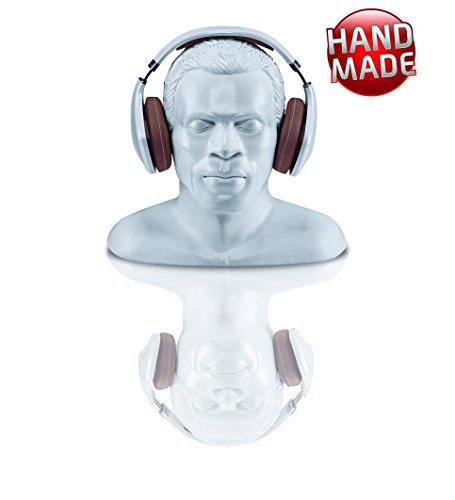 Oehlbach In Silence - Universell einsetzbarer Kopfhörerständer - Optimale Aufbewahrung von größeren Over-/On-Ear Kopfhörer - Handmade - weiß