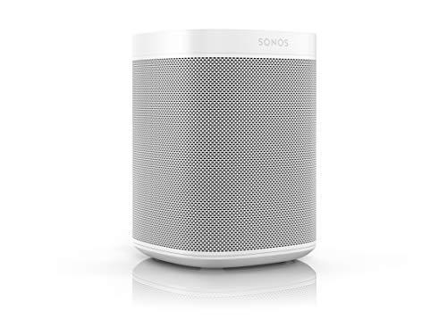 Sonos One Smart Speaker, weiß (GEN2) - Intelligenter WLAN Lautsprecher mit Alexa Sprachsteuerung, Google Assistant & AirPlay - Multiroom Speaker für unbegrenztes Musikstreaming