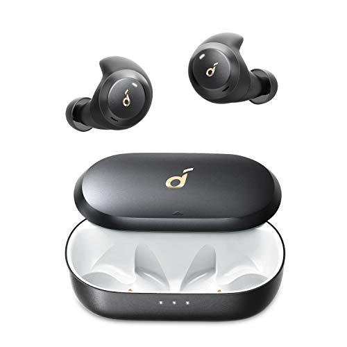 Anker Soundcore Spirit Dot 2 Bluetooth Kopfhörer, Tiefer Bass, Klares Klangprofil, IPX7 wasserdicht & schweißfest, Blitzschnelles Aufladen, Bequeme AirWings, Mini Ohrhörer für Sport, Fitnessstudio