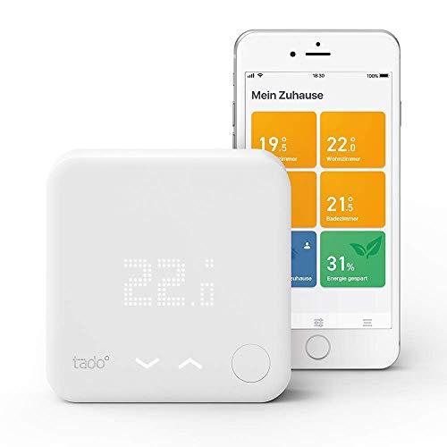 tado° Smartes Thermostat Starter Kit V3+ (Raumthermostat, Intelligente Heizungssteuerung, kompatibel mit Amazon Alexa, Apple HomeKit, Google Assistant, IFTTT)