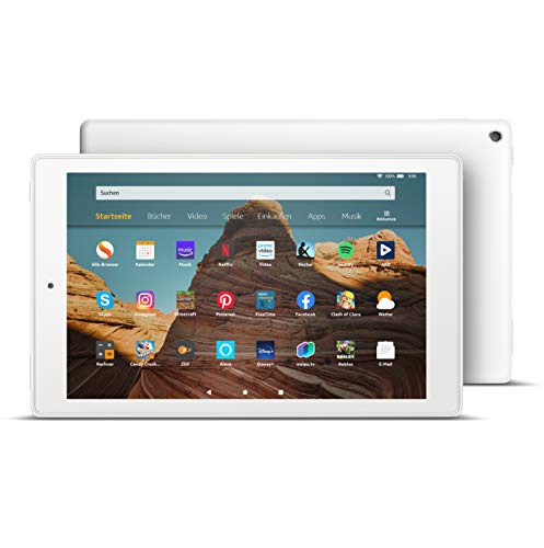 FireHD10-Tablet│10,1Zoll großes FullHD-Display (1080p), 32 GB, Weiß, Mit Werbung