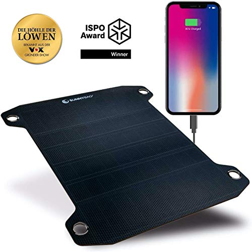 SunnyBAG Leaf PRO | Das weltweit stärkste Flexible Solarpaneel | Premium Outdoor Solar Ladegerät | ISPO Award Gewinner