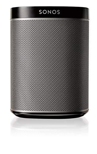 Sonos Play:1 Smart Speaker, schwarz - Kompakter & kraftvoller WLAN Lautsprecher für unbegrenztes Musikstreaming - Feuchtigkeitsbeständiger Multiroom Lautsprecher