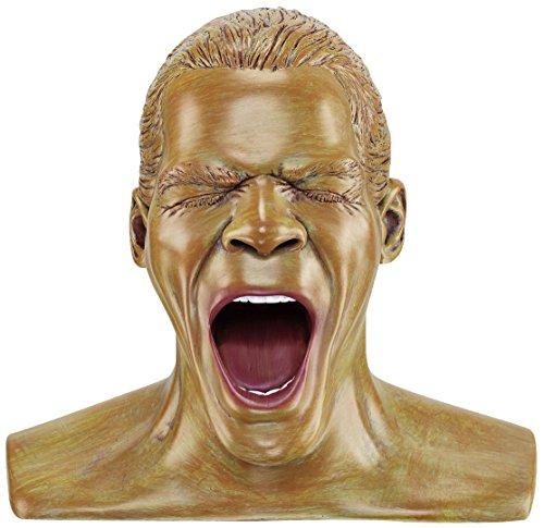 Oehlbach Kopfhörerständer Scream Anniversery- Handmade, Kunstharz, Handbemalt - kultiger Oehlbach-Kopf zur Aufbewahrung von Over- und On-Ear-Kopfhörern