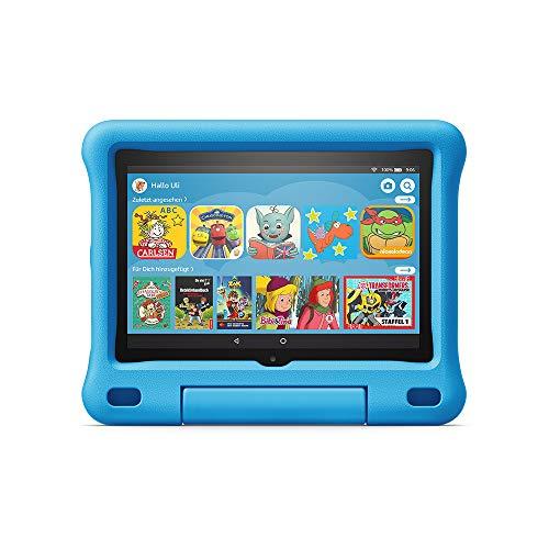 Fire HD 8 Kids-Tablet | Ab dem Vorschulalter | 8-Zoll-HD-Display, 32 GB, blaue kindgerechte Hülle